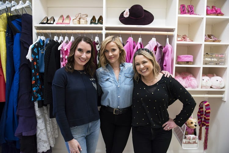 Clea Shearer, Reese Witherspoon, and Joanna Teplin in episode 101
