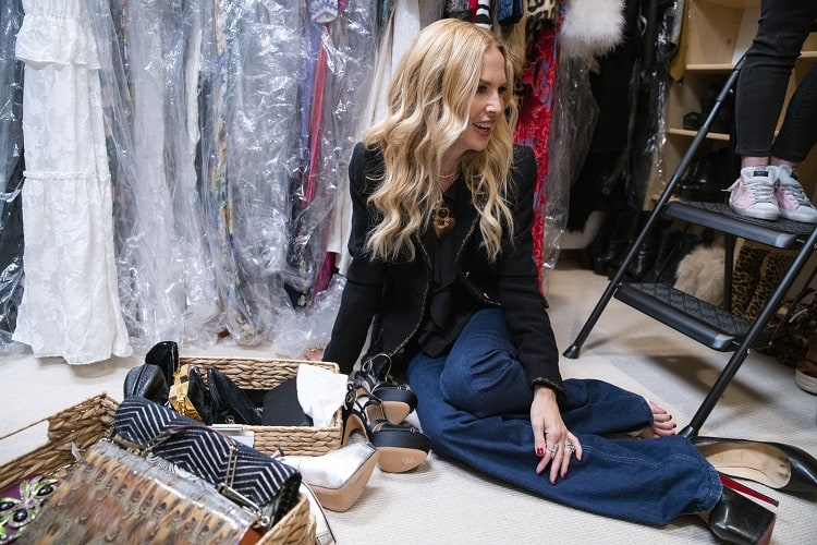 Rachel Zoe in episode 102 of  Get Organized with The Home Edit.