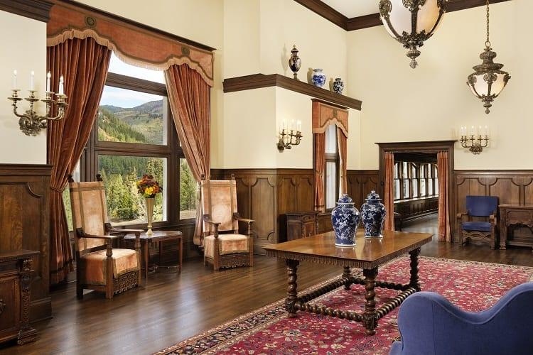 inside the redstone castle in colorado.
