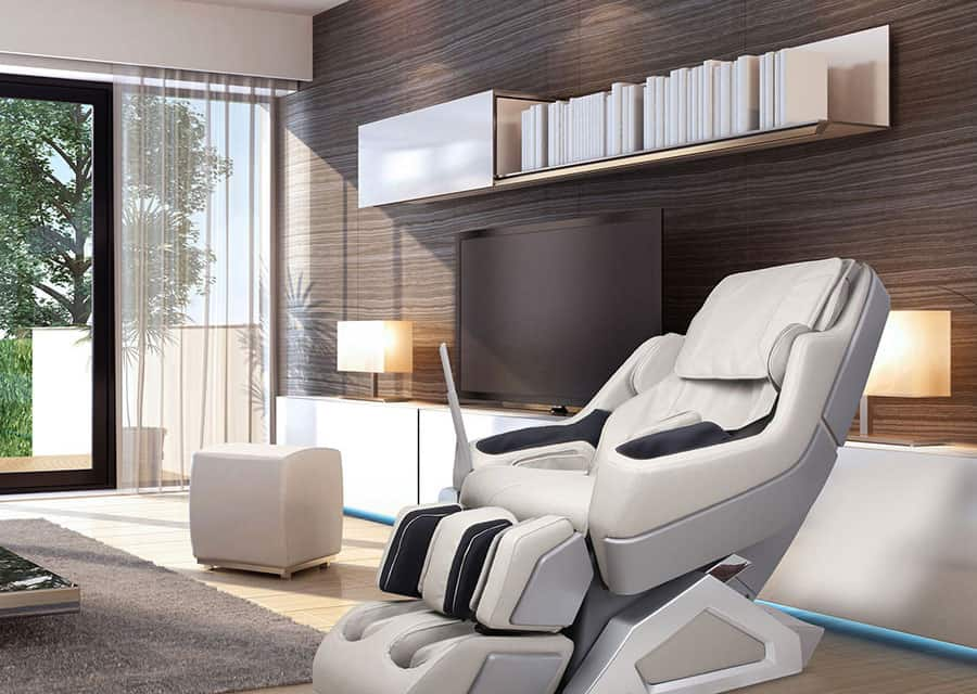massage chair in a modern living room