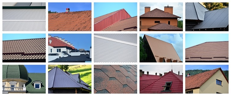 many types of roof designs