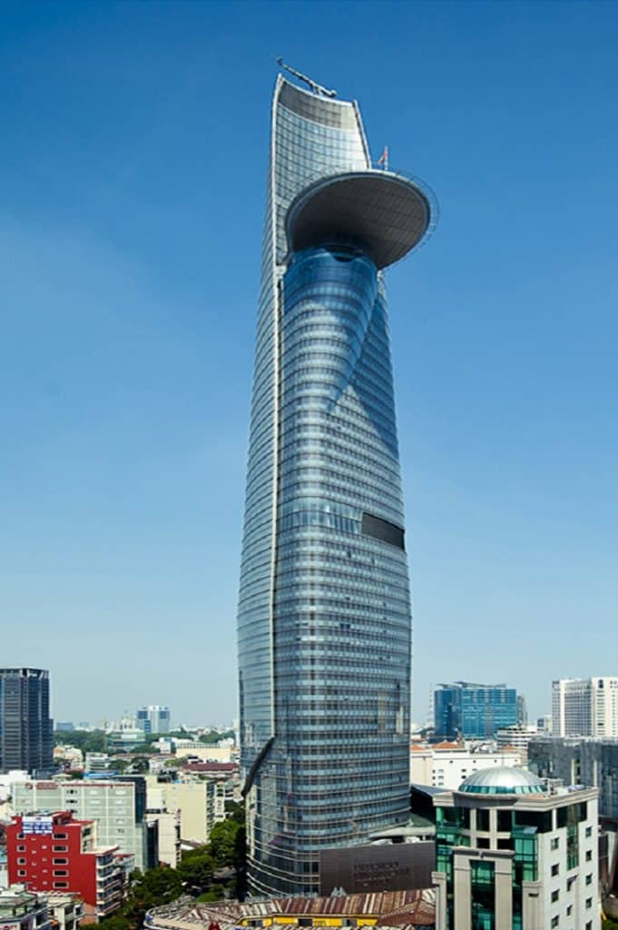 Bitex Financial Tower in Ho Chi Minh City, which looks almost identical to the MCU Stark Tower.