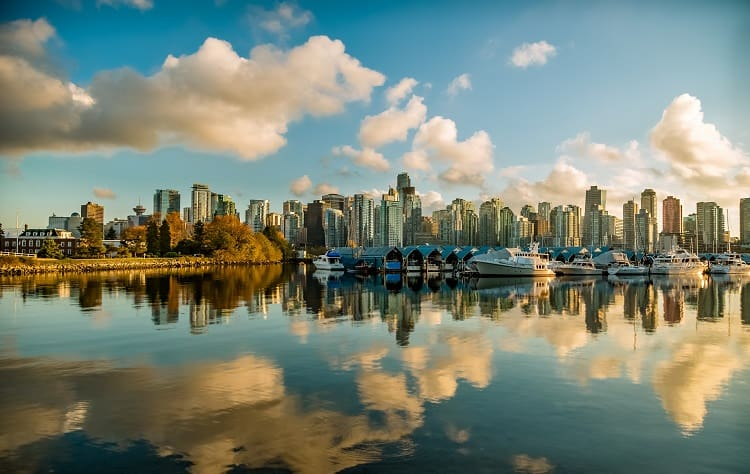 water view of the city of vancouver, bc
