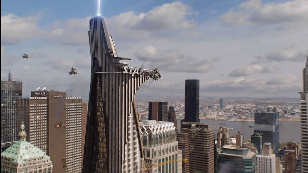 stark tower in the first avengers movie