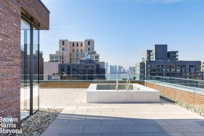 Rooftop terrace at Lewis Hamilton's Tribeca penthouse