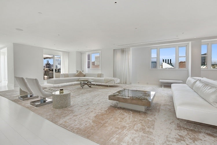 inside tom clancy's penthouse in baltimore: the living room