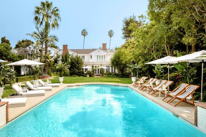 Pool of the house from Fresh Prince of Bel Air.