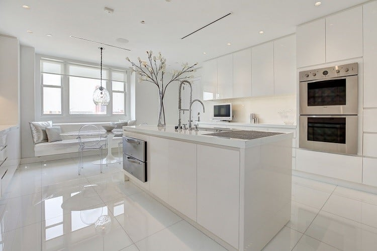 tom clancy kitchen in his baltimore penthouse