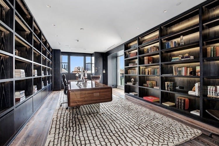 tom clancy study in his baltimore home