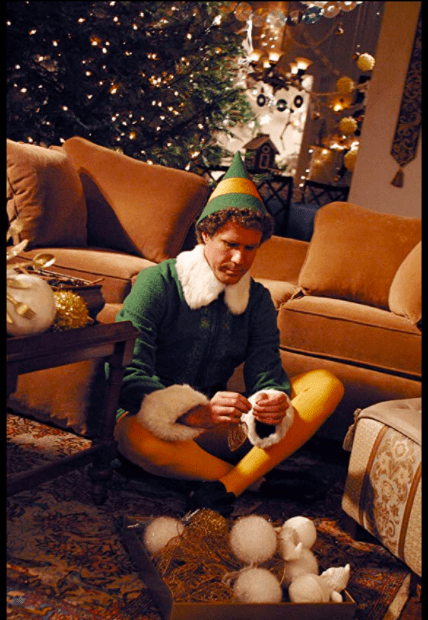 Buddy in Walter's apartment in Elf