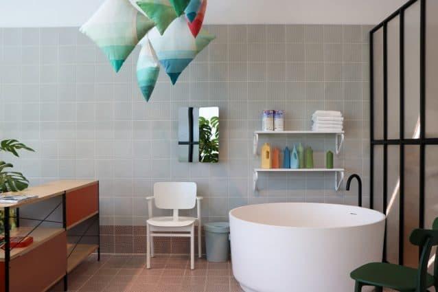 bathroom with a unique design