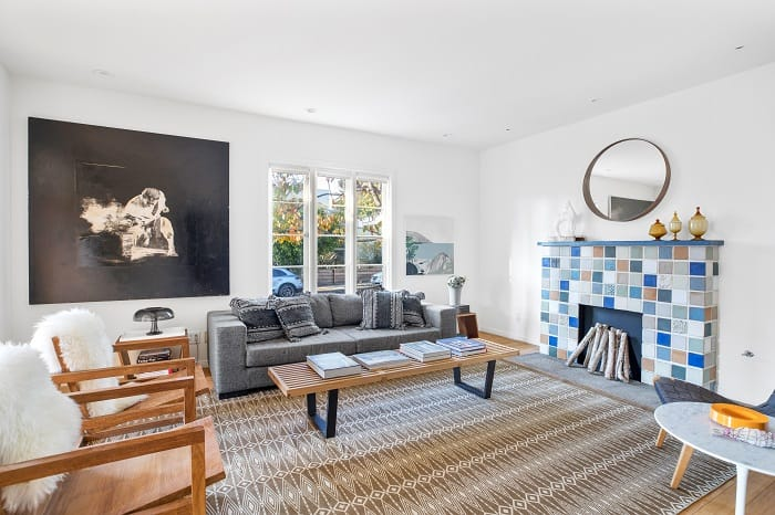 living room in Ty Pennington's house in Venice, CA