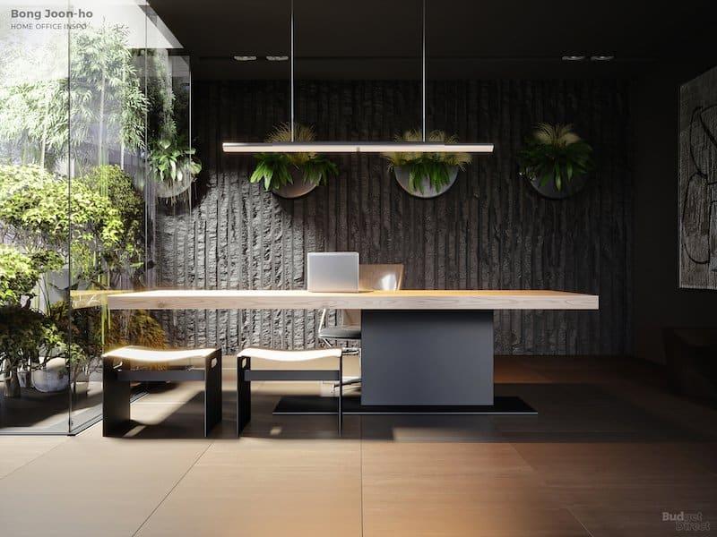 Bong Joon-ho-inspired home office décor.
