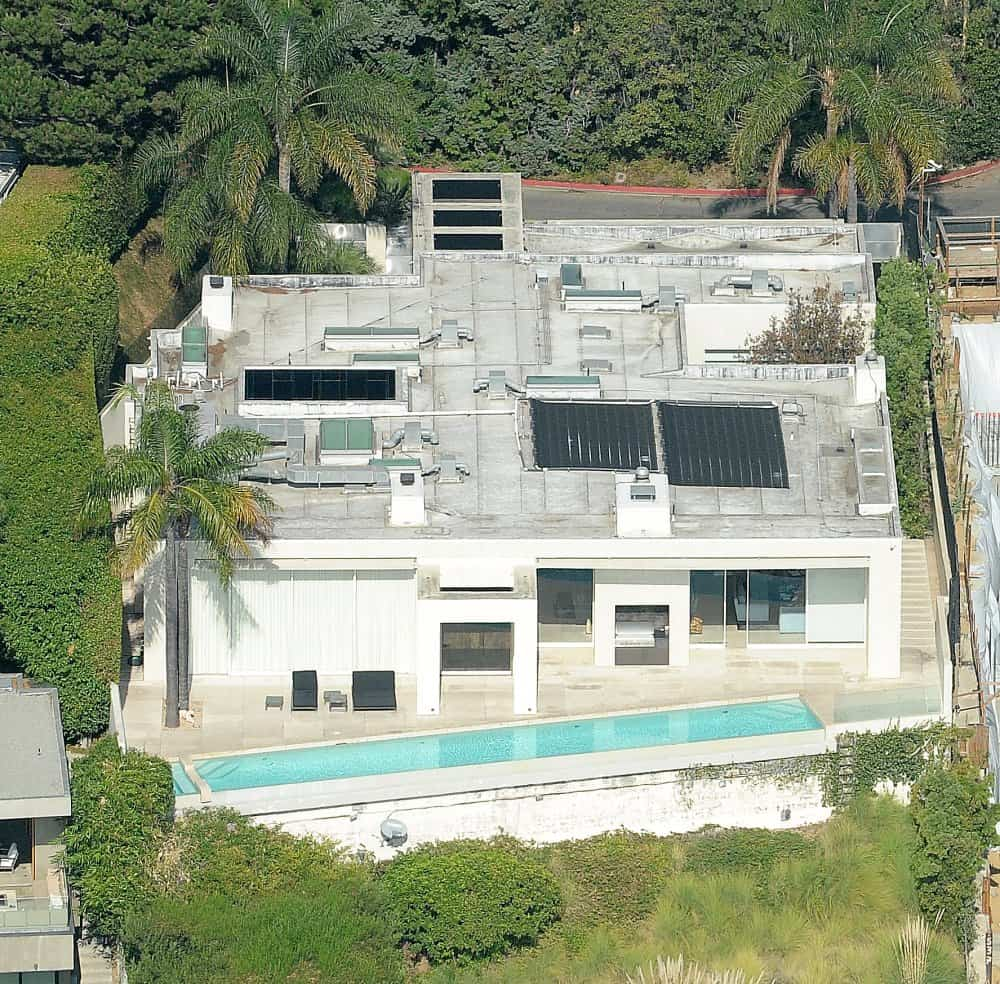 Keanu Reeves' home in the Hollywood Hills