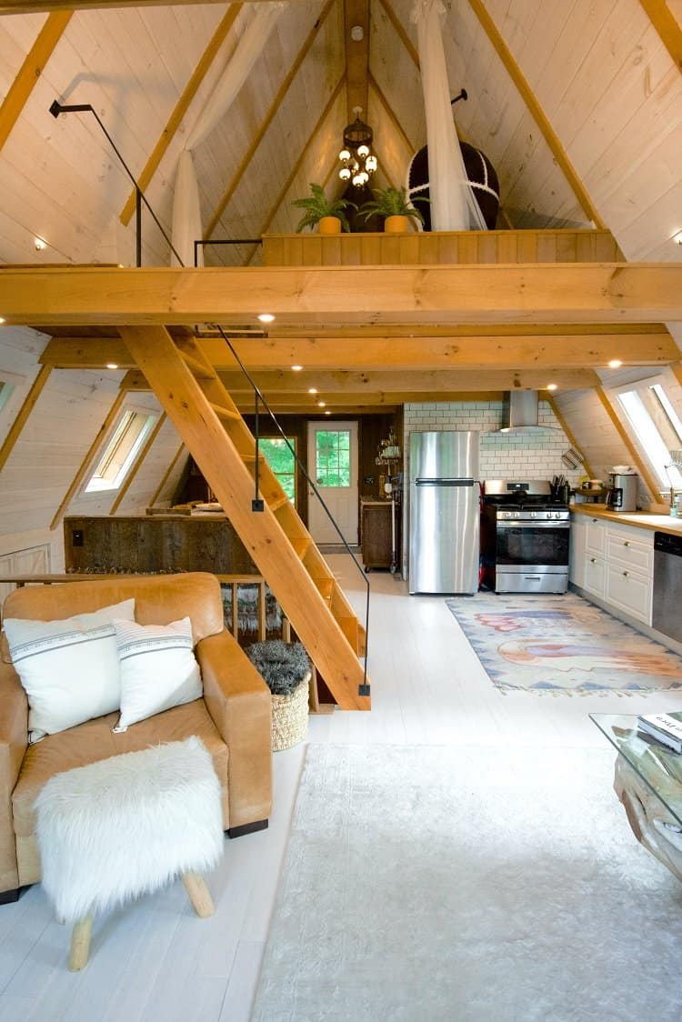 a beautifully decorated attic living space
