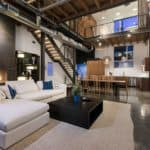 beautiful industrial style modern loft