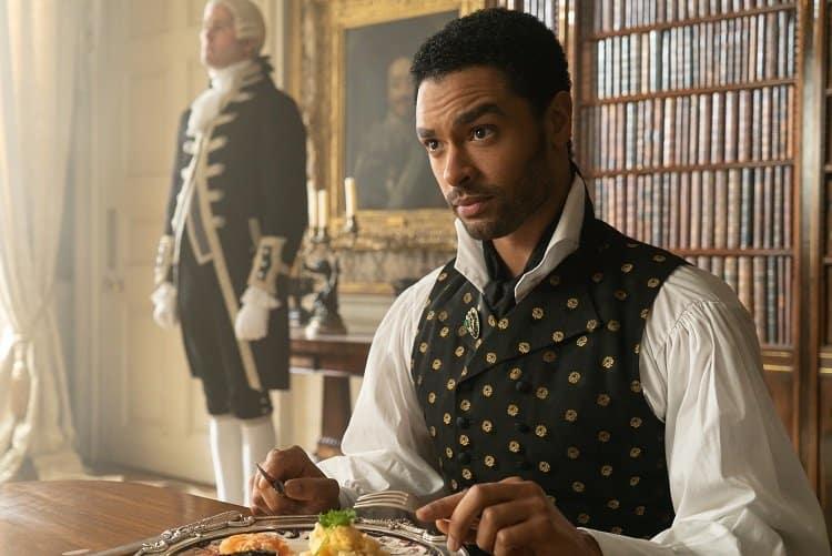 The Duke of Hastings serving breakfast at Clyvedon Castle.