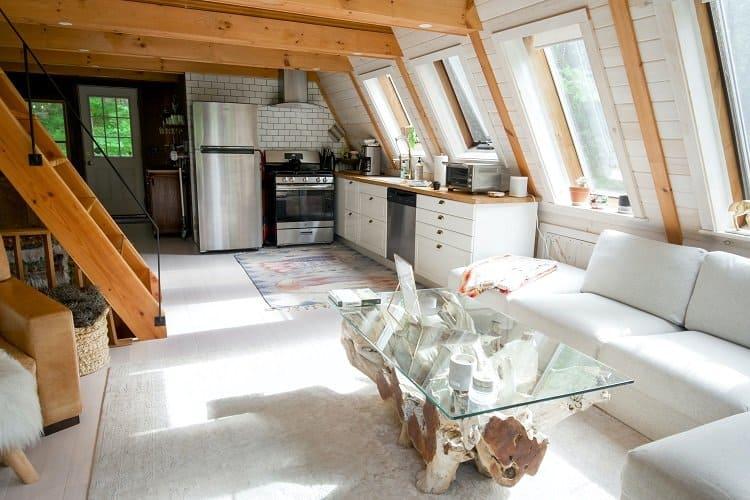stylish attic living space