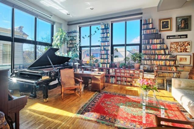 unique apartment in new jersey with walls lined with books