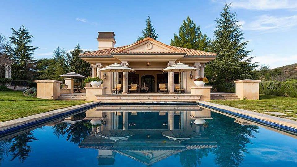 Britney's pool house.