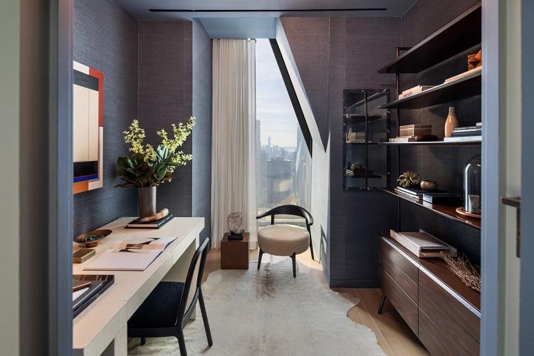 elegant home office in a designer home