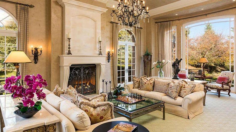 Inside Britney Spears' living room in her house in Thousand Oaks