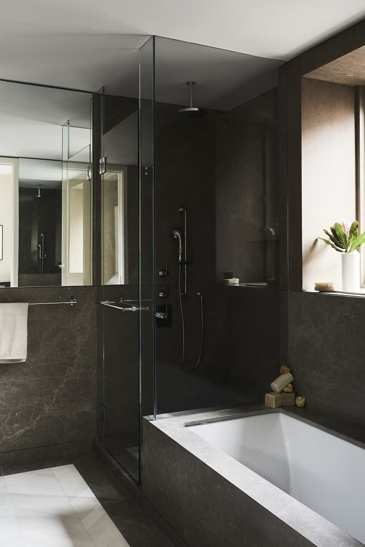 luxurious bathroom in a $5.7 million condo at 40 bleecker in noho, manhattan