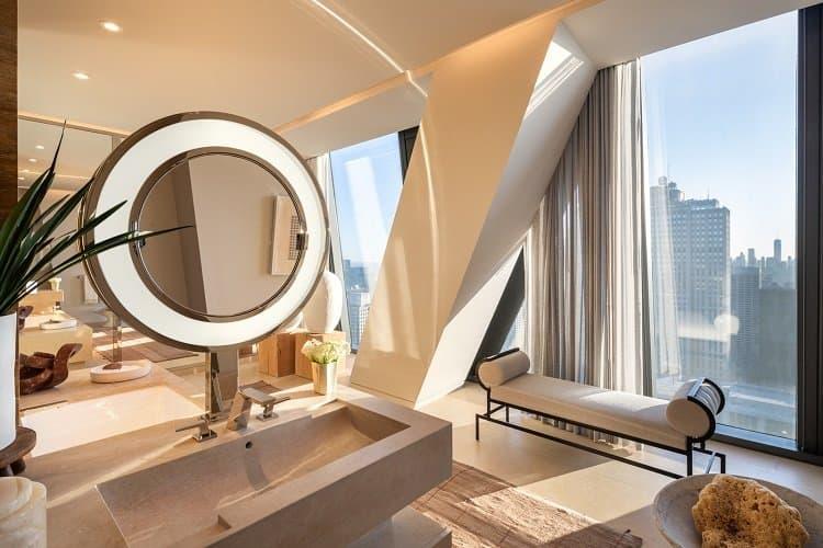 ultra-luxurious bath in new manhattan skyscraper