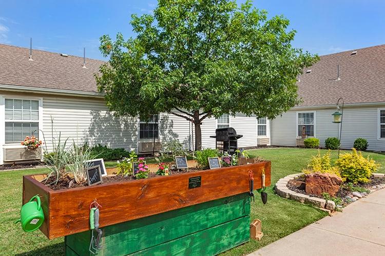 Community garden at Brookdale Richland Hills in Dallas-Fort Worth, TX.