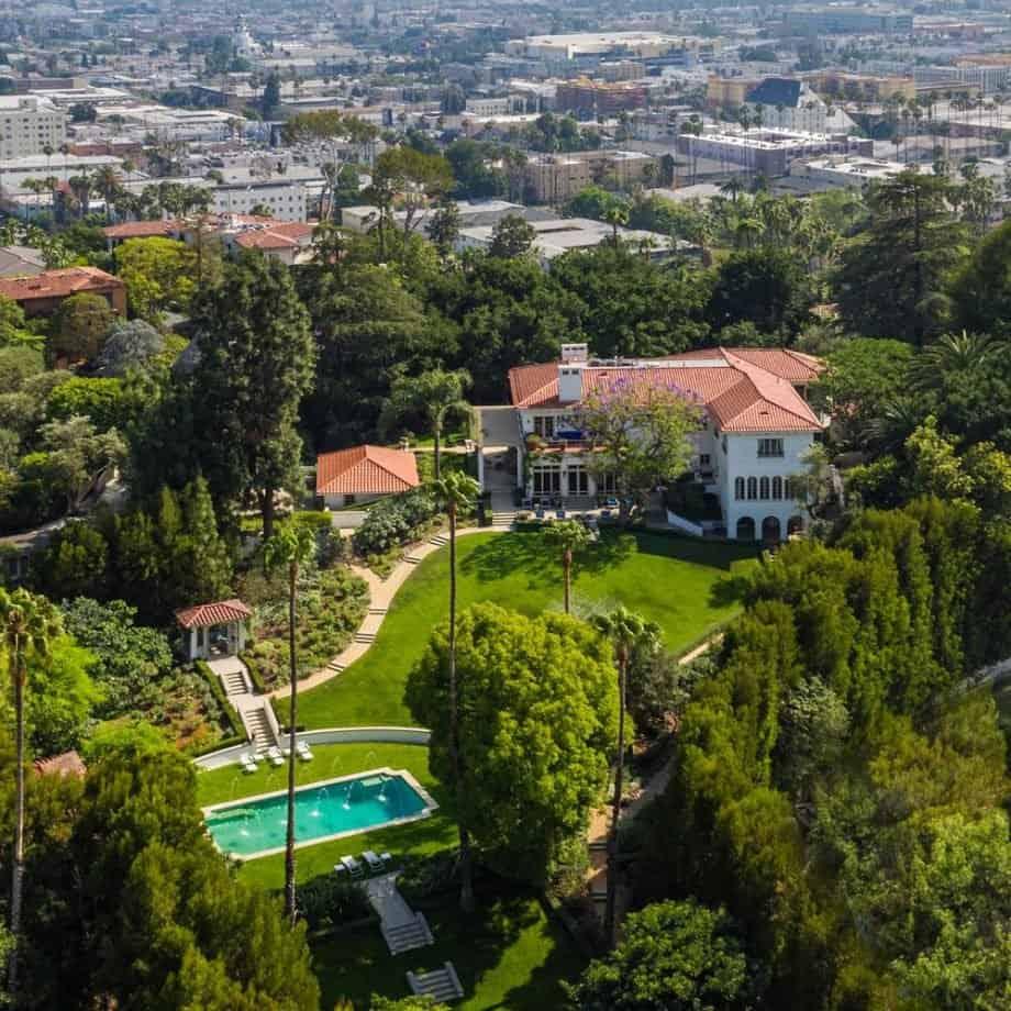 Brad Pitt and Angelina Jolie house in Los Angeles, CA.