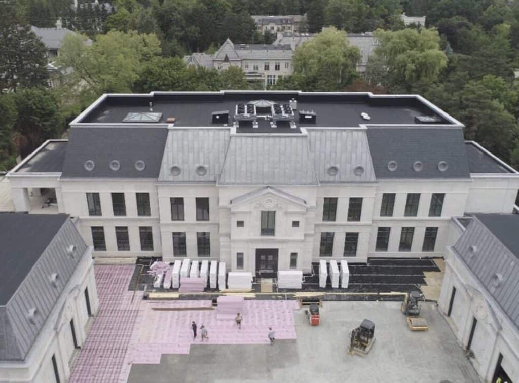 Drake shared construction updates with fans on Instagram as his dream house in Toronto was taking shape.
