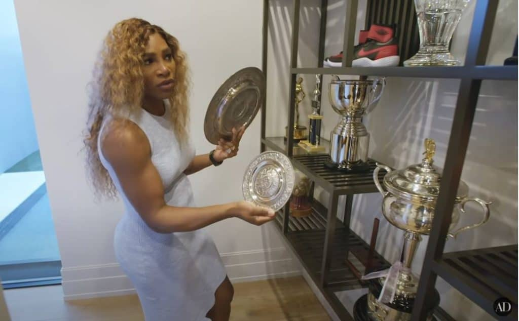 Serena gives us a tour of her trophy room.