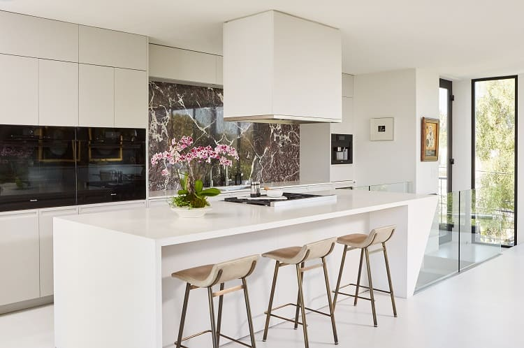 beautiful white kitchen with a modern design
