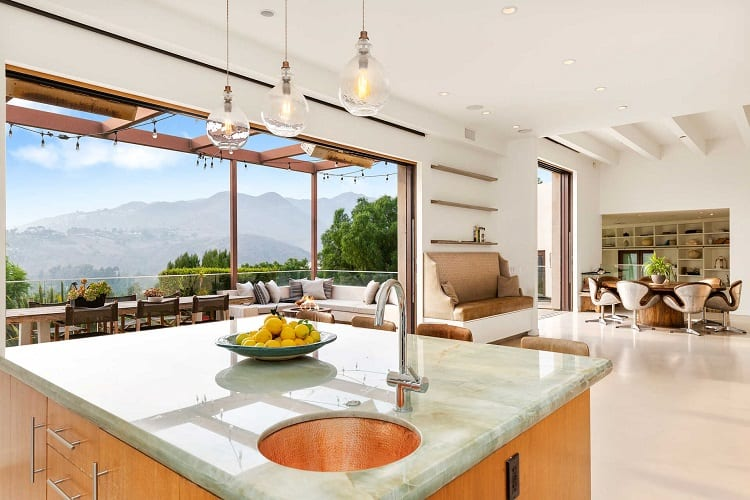 great views of the mountains from the kitchen