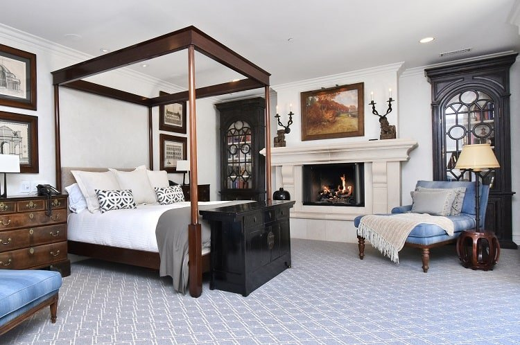 luxury bedroom in a los angeles mansion