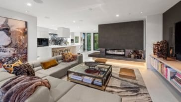 inside a modern luxury home for sale in venice california