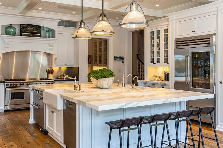 rob lowe's luxurious custom-made kitchen