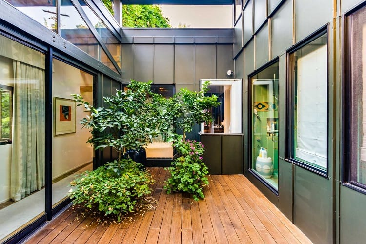 Other unique, Zen-inspired features include an enclosed greenhouse-style garden room