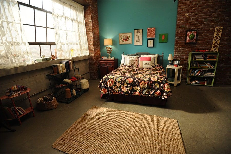 Jess' room in The New Girl TV show
